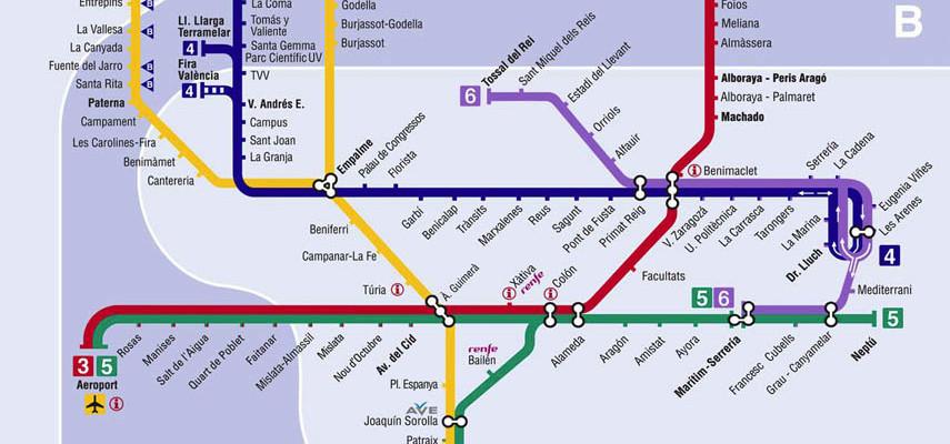 Metro Valencia Informatie Over De Metro In Valencia